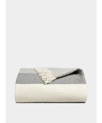 Genjin Striped Cashmere Blanket - Mist