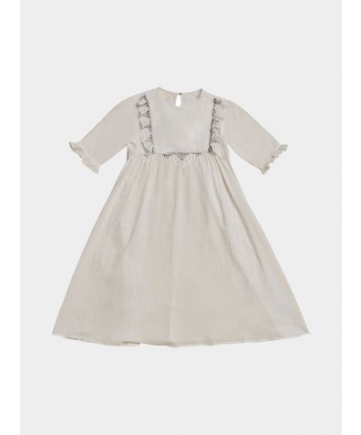Girls Organic Cotton Forivorland Nightdress - White