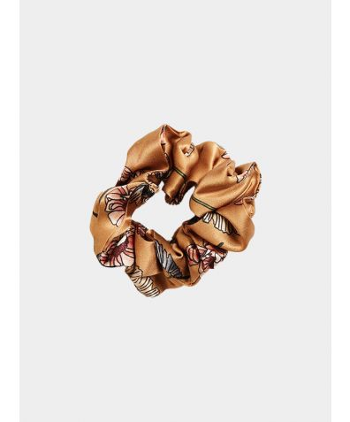 Silk Scrunchie - Gold Poppy