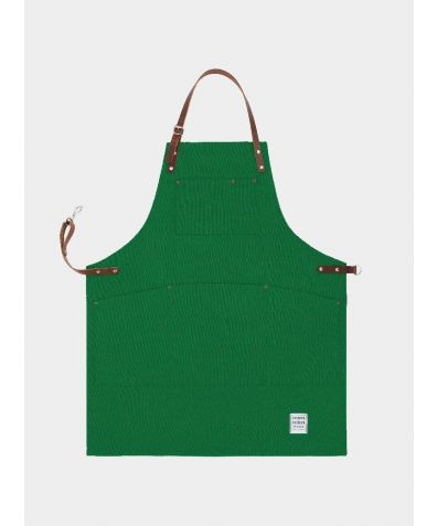 Original Apron with Leather - Shropshire Green