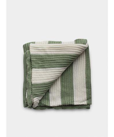Organic Knitted Bamboo Blanket - English Sage
