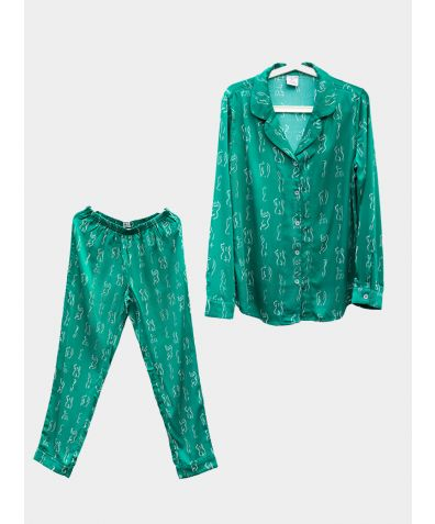 Organic Bamboo Pyjama Trouser Set - Emerald