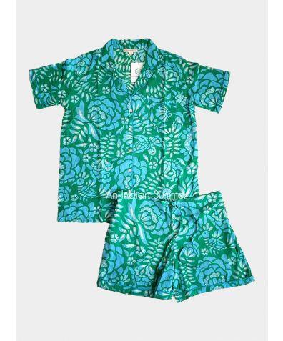 Women's Cotton Pyjama Short Set - Floresta