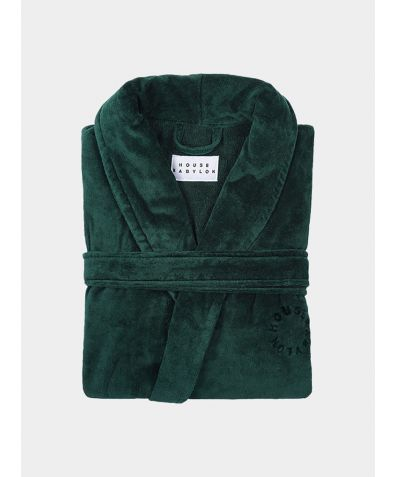 Organic Turkish Bathrobe - Green