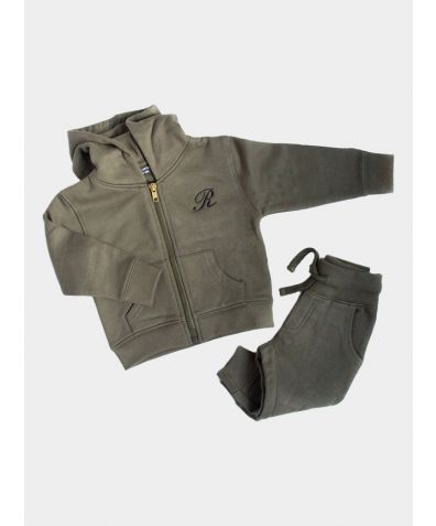 Hooded Jogger Set - Dusty Olive