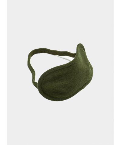 Merino Wool Eye Mask - Bottle Green