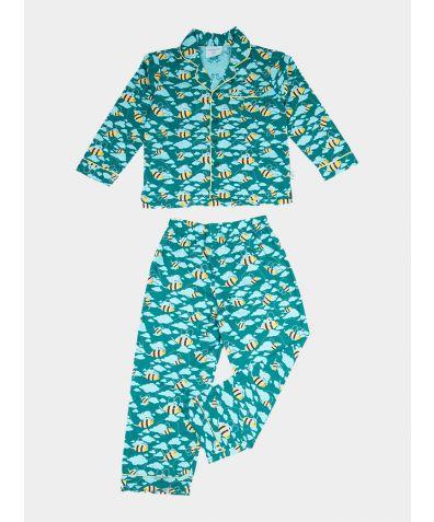 Boys Organic Cotton Pyjama Trouser Set - Busy Bees