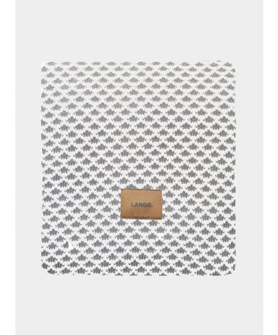 Wool Blanket - Grey - White