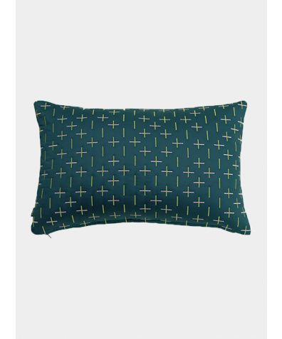 Modern Kantha Cushion - Teal