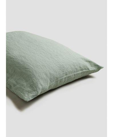 Linen Pillowcases (Pair) - Sage Green