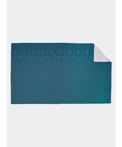 Modern Kantha Cotton Single Blanket - Teal