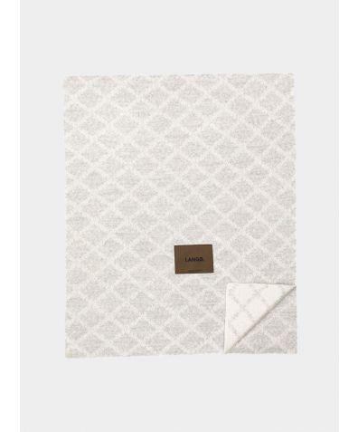 Merino Wool Blanket - Light Grey White
