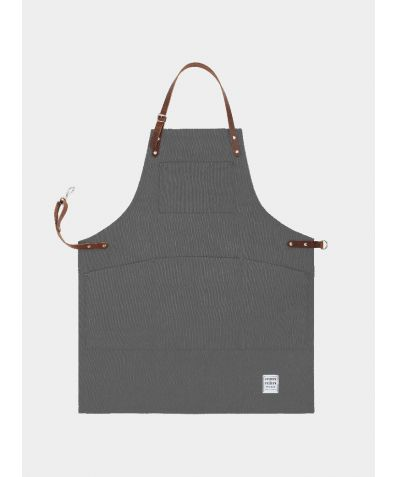 Original Apron with Leather - Heritage Grey