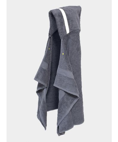 Hooded Cotton Towel - Grey