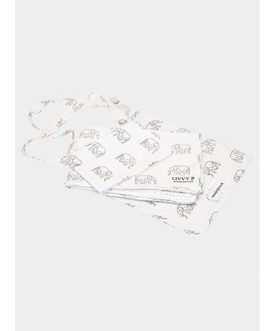 200 Thread Count Cotton Bed Set - Grey Elephant