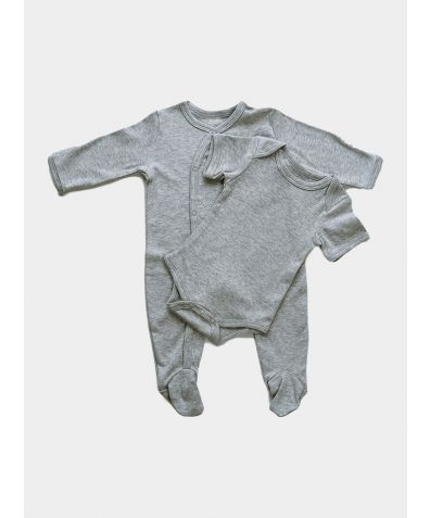 2-Piece Organic Baby Gift Set - Grey