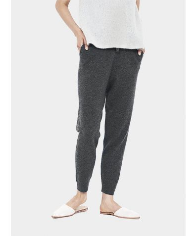 Wool Cashmere Joggers - Charcoal