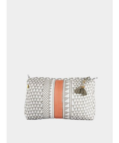 Sankari Geometric Wash bag - Orange