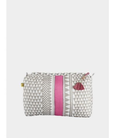 Sankari Geometric Wash bag - Pink