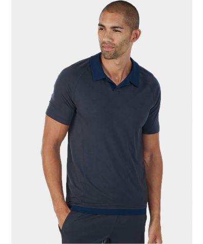 Mens Nattwell® Sleep Tech Polo Shirt - Dark Grey