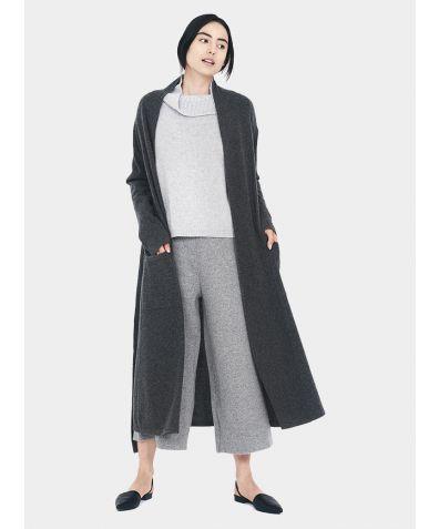 Versatile Long Cardigan - Grey