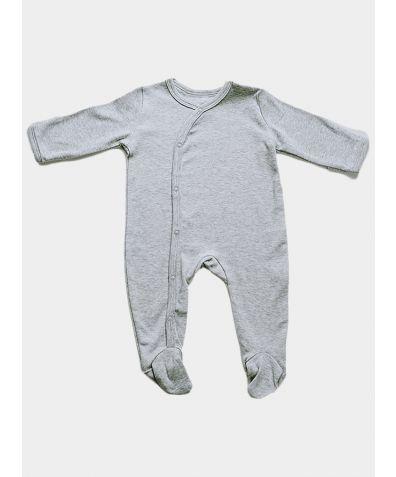 Organic Cotton Baby Sleepsuit - Grey