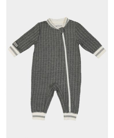 Organic Cottage Collection Playsuit - Bear Black