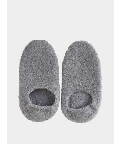 Snug Woollen Sock Slipper - Charcoal
