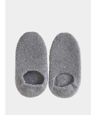 Snug Woollen Sock Slipper - Charcoal