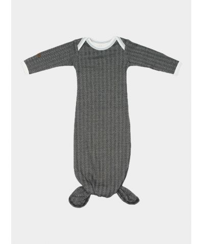 Organic Cottage Night Gown - Bear Black