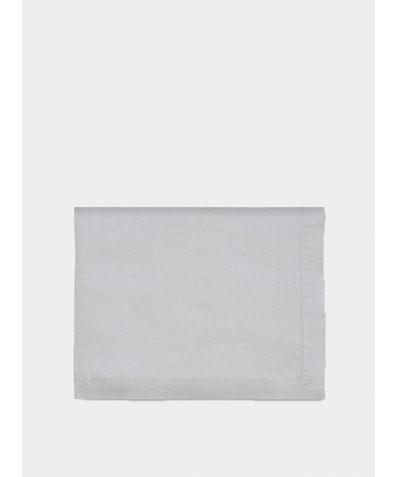 Linen Mitered Hem Tablecloth - Dove Grey