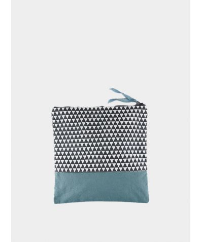 Alibag Triangle Canvas Wash Bag - Teal