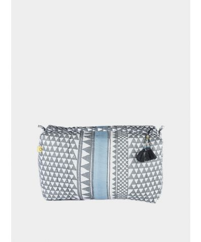Sankari Geometric Wash bag - Smokey Grey