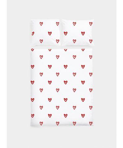 Cotton Sateen Duvet Set - Hearts