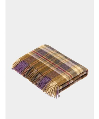 Glencoe Wool Throw - Heather