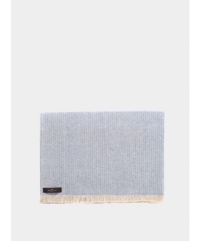Herringbone Linen Throw – Blue