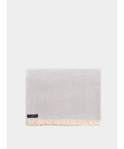 Herringbone Linen Throw – Grey
