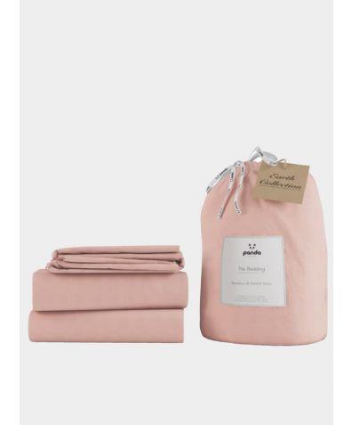 Bamboo & Linen Bed Set - Himalayan Pink