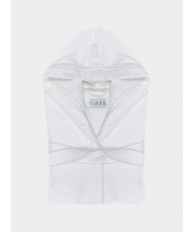 Sati Hooded Cotton Bathrobe - Frost