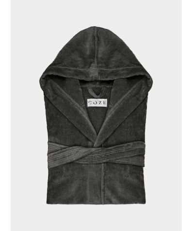 Sati Hooded Cotton Bathrobe - Mist
