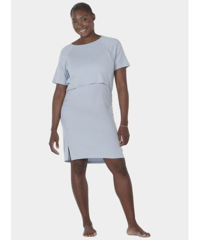 Maternity & Nursing Nattwell® Sleep Tech Nightdress - Ice Blue