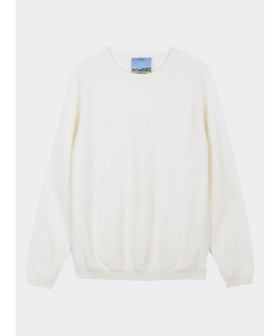 Unisex Cashmere Travel Pullover - Ivory