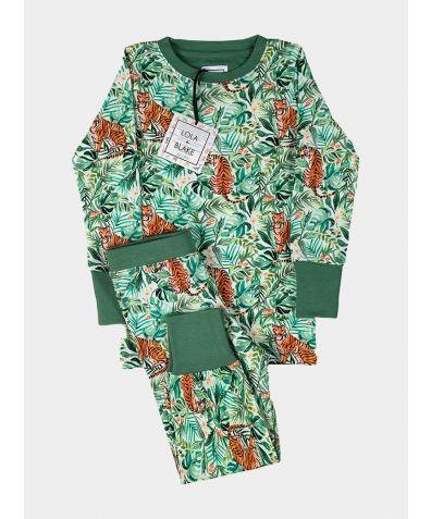 Children's Cotton Jersey Pyjama Trouser Set - Jungle