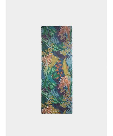 Kew Tropics Indigo Microfibre Yoga Towel Topper