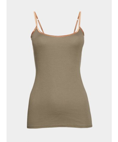 Luxe Cotton Vest - Khaki
