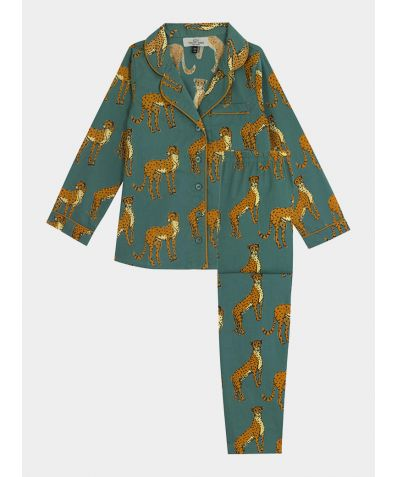 Children's Cotton Pyjama Trouser Set - Untamed Cheetah