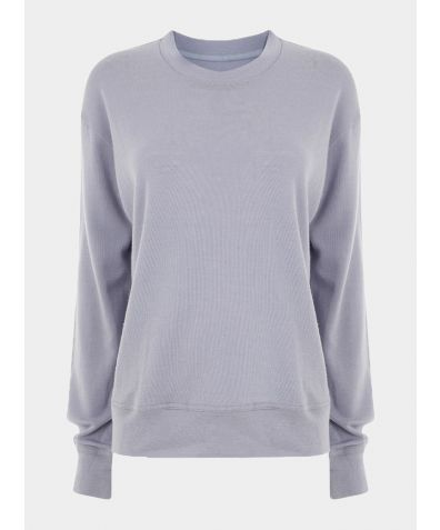 Ribbed Merino Wool Reset Jumper - Grey