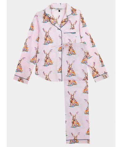 Women's Cotton Pyjama Trouser Set - Snow Hare (COMING SOON)