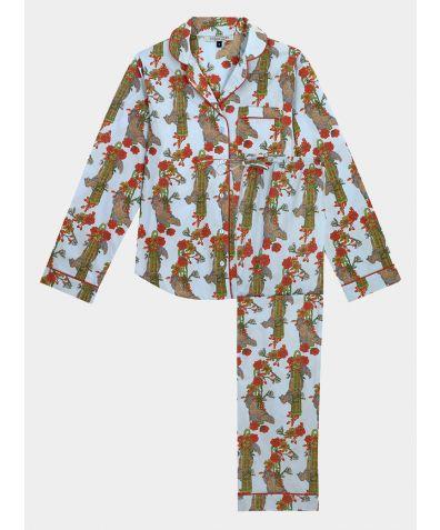 Women's Cotton Pyjama Trouser Set - Squirrel