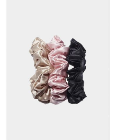 Large Silk Scrunchie - Pack Of 3